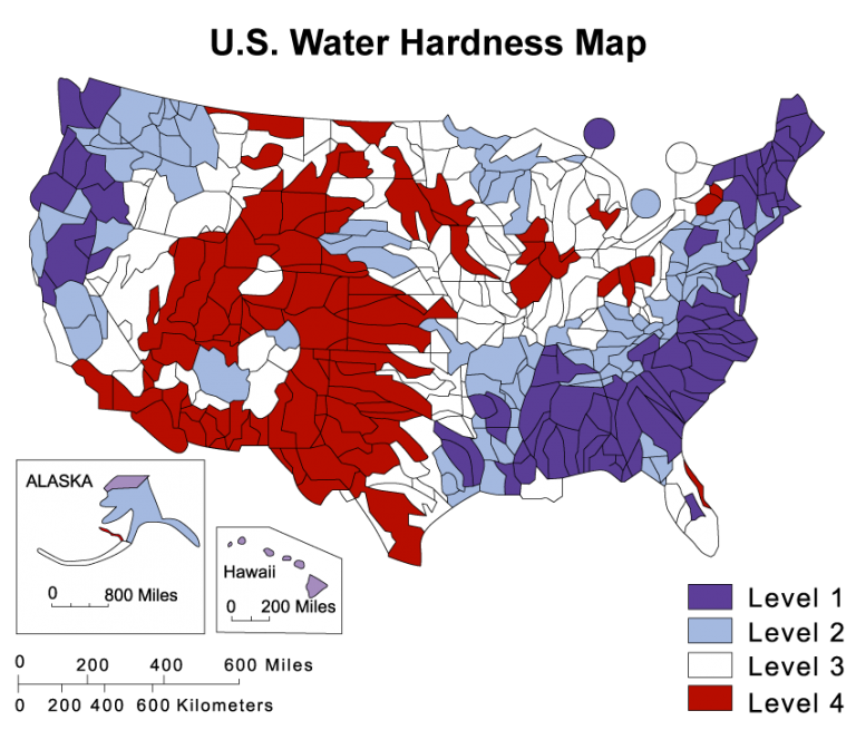 CR Spotless US-Water-Hardness-Map